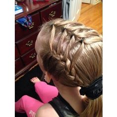Gymnastics hairstyle hairstyles
