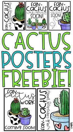 FREE cactus posters for back to school!