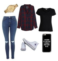 """""""Casual"""" by bmarie14 ❤ liked on Polyvore featuring Rails, Converse, Casetify and Lacoste"""