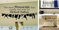 6 Options! Kitchen, Laundry and Bathroom Decals!