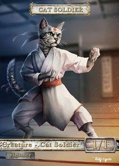 Cat Soldier Token (White 1/1) (Version 4)