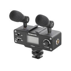 Saramonic CaMixer Dual 3.5mm inputs & one XLR input audio mixer for DSLR cameras with earphone monitor jack and +48 phantom power
