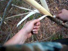 Nancy Today: 1 Woven cedar bark bag ASMR weaving basketmaking (basket ma...