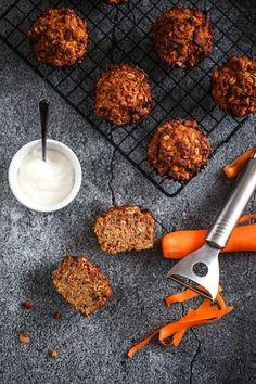 Muffinki marchewkowo-jabłkowe - przepis Marty Bento, Tandoori Chicken, Gluten Free, Healthy Recipes, Fit, Ethnic Recipes, Rezepte, Glutenfree, Sin Gluten