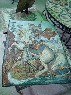 Gorgeous mosaics, Aqaba, Jordan