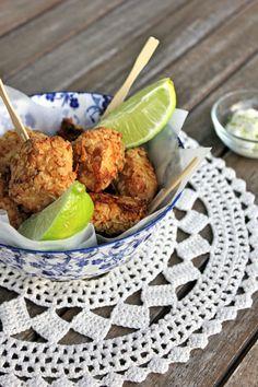 Nuggets de frango (com crosta de aveia e parmesão)