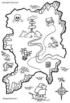 Mapa del tesoro pirata #pirata #mapa #imprimible #free