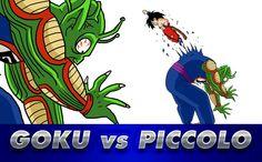 DragonBall GOKU vs PICCOLO   Dragon Ball #anime #manga #dragonball #dbz #goku #draw #drawing #dibujo #dibujar