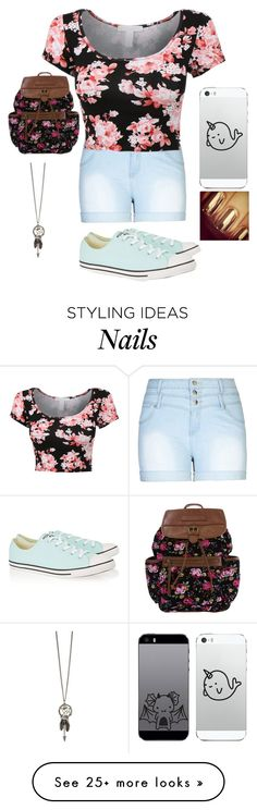 """""""ootd -sits in class and wiats for the slow teacher-"""" by winx-club-flora on Polyvore featuring City Chic and Converse"""