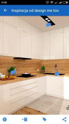 Dekor podlahovej krytiny aj na stene a pracovnej doske Kitchen Room Design, Kitchen Cabinet Design, Modern Kitchen Design, Home Decor Kitchen, Interior Design Kitchen, Home Kitchens, Small Modern Kitchens, Modern Kitchen Cabinets, Minimalist Kitchen