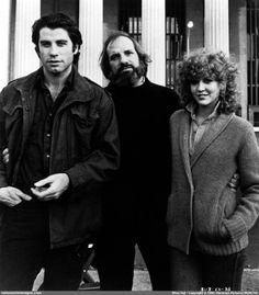 """Brian De Palma, John Travolta & Nancy Allen (""""Blow Out"""", 1981)"""