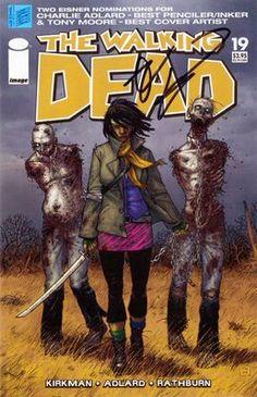 My copy of The Walking Dead #19 signed by Robert Kirkman. It's on eBay.