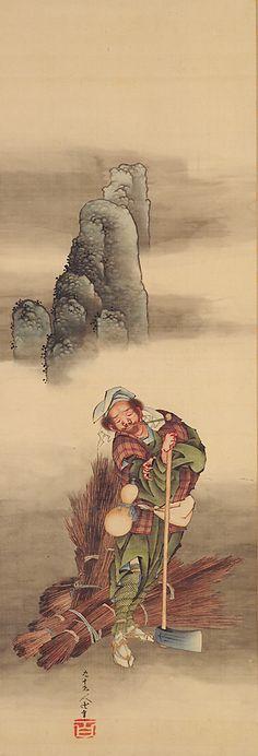 Woodcutter, 1849 by Katsushika Hokusai