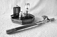 These rather beautiful items are the paraphernalia used in opium dens.