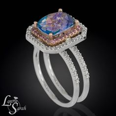 Rainbow Mystic Topaz Ring Mystic Topaz Ring by LaurieSarahDesigns, $3221.10