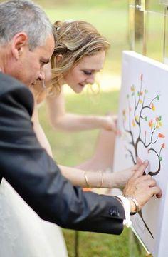 thumb print wedding memo