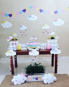 25 ideas of faça você mesmo - Birthday FM : Home of Birtday Inspirations, Wishes, DIY, Music & Ideas Rainbow Birthday Party, Baby Birthday, Birthday Party Themes, Cheap Party Decorations, Birthday Decorations, Baby Shawer, Ideas Para Fiestas, First Birthdays, Diy And Crafts