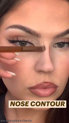 Nose Makeup, Contour Makeup, Eyebrow Makeup, Eyeshadow Makeup, Doll Eye Makeup, Prom Makeup, Makeup Brushes, Makeup For Black Skin, Makeup Eye Looks