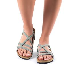7df4a806d8a8 7 Best Seashell Turquoise-Gray Sandals
