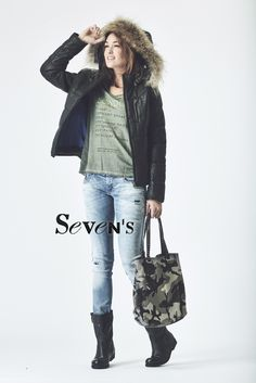 Doudoune OAKWOOD - T-Shirt MAISON SCOTCH - Jean DIESEL Grupee - Bottes PALLADIUM - Sac REHARD   www.boutiques-sevens.com   #doudoune #OAKWOOD #tshirt #maisonscotch #jean #diesel #bottes #leather #palladium #sac #rehard #style #sevens #mode #fashion #hiver15 #winter15