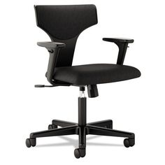 basyx by HON HVL258 2Way Arms Task Chair for Office or Computer Desk Black Fabric *** More info could be found at the image url.