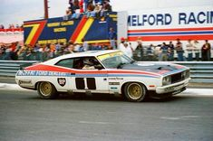 Allen Moffat with Jackie Ickx 1977 Bathurst victory in a broken car Australian V8 Supercars, Australian Muscle Cars, Aussie Muscle Cars, Car Ford, Ford Gt, Gs500, Classic Race Cars, American Racing, Ford Falcon