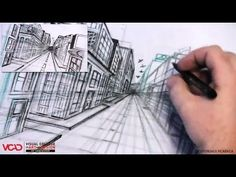 Free video tutorial on how to draw a city in One Point Perspective Part 4 of 5 Visual College of Art and Design of Vancouver  626 West Pender Street #500  Vancouver, BC V6B 1V9  (800) 356-8497    Watch full VCAD tutorial online: http://www.vcad.ca/sm-how-to-draw-a-city-in-one-point-perspective/  Subscribe to VCAD: http://youtube.com/subscription_center?add_user=VancouverVCAD  Like VCAD: http://facebook.com/VCAD.ca  #onepoint #city #drawing #tutorial #perspective