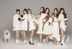 "Las chicas de AOA posan con sus mascotas para la revista ""Life And Dogue"" via @soompi"