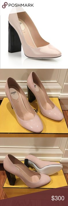 Brand new Fendi color block heels Brand new shoes! Authentic!!! Fendi Shoes Heels