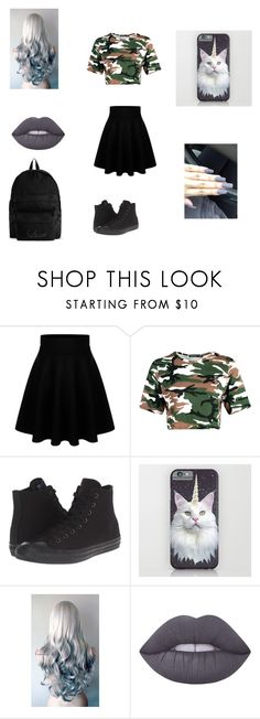 """""""n°2"""" by eilnsita-sws ❤ liked on Polyvore featuring Boohoo, Converse, Lime Crime and YOHJI YAMAMOTO POUR HOMME"""