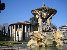 Roma - Tempio di Ercole e Fontana dei Tritoni