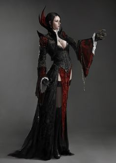 ArtStation - Old work Vampire countess, Jonghwan Lee