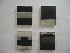 Hideaki Yamanobe Komposition 2008, Acryl und Sand auf Nessel, 9 x 28 x 23,5 cm via kunstraum 21 gallery
