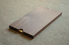 Walnut Serving Tray with Brass inlayed Handles