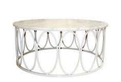 Ovales Cocktail Table, White on OneKingsLane.com