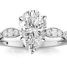 Pear Shape 1.33 Carat Diamond Engagement Ring