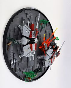 LEGO MOC Star Wars Ring-worlds: Clone Wars A Deadly Ascent on Teth Saw this on YouTube!