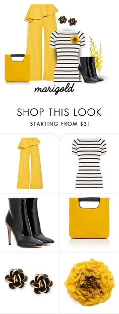 """""""marigold"""" by art-gives-me-life ❤ liked on Polyvore featuring Rosie Assoulin, Oasis, Gianvito Rossi, Simon Miller, Chantecler, Gucci, contestentry and marigold"""