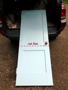 DIY Dutch Door - cut above the knob instead and add something to the back of the top piece to force the bottom half to close with the top for Lilly's room