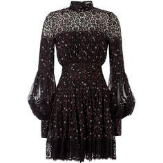 Alexander McQueen Printed Silk Dress ($2,635) ❤ liked on Polyvore featuring dresses, alexander mcqueen, florals, slim fit dress, flower print dress, silk dress, floral pattern dress and silk floral dress