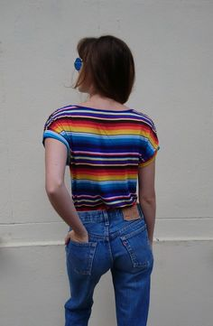 T-shirt Morgan arc en ciel - T-shirt Morgan taille S porté par un 34 sur  les photos, neuf, couleur arc en ciel, avec perles sur les épaules, matière  stretch ... d9f75025c80