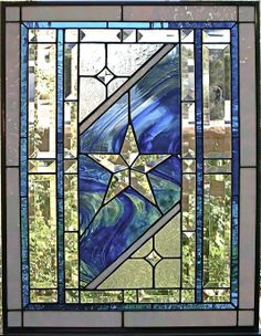 Custom Made Traditional Stained Glass Window/Panel star