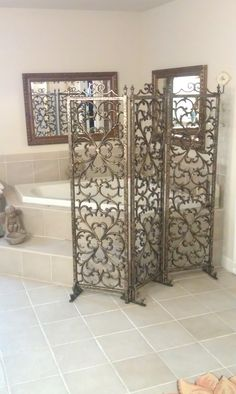 Village Craft Iron - Home Cheap Room Dividers, Portable Room Dividers, Decorative Room Dividers, Sliding Room Dividers, Room Divider Shelves, Room Divider Screen, Room Screen, Decorative Metal Screen, Pallet Room