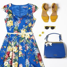 The Floral Symphony Dress Flatlay Styling, Review Fashion, Review Dresses, Spring Trends, Fashion Story, Retro, Fashion Details, Special Occasion Dresses, My Wardrobe