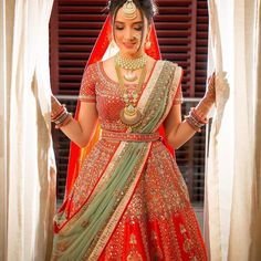 When it comes to being a designer bride, being an Anita Dongre bride is a privilege in itself. Here are 10 times when real brides were spotted in an Anita Dongre bridal lehenga. Wedding Lehenga Designs, Wedding Lehnga, Designer Bridal Lehenga, Wedding Bride, Indian Bridal Outfits, Indian Bridal Fashion, Indian Designer Outfits, Lehenga Saree Design, Red Lehenga