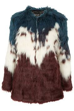 faux fur shaggy jacket purple ebay - Google Search