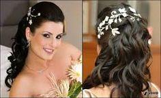 Resultado de imagem para penteados de casamento para cabelos cacheados