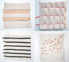 Fabric manipulation challenge - Annekata blog Fabric Manipulation Techniques, Textiles Techniques, Sewing Techniques, Textile Fiber Art, Textile Fabrics, Embroidery Art, Embroidery Stitches, Sewing Crafts, Artists