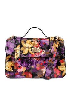 Vintage Floral Print Shoulder Bag