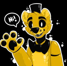 Hello there!My name is Golden Freddy by VaniaFox on DeviantArt Fnaf Golden Freddy, Freddy 's, Springtrap Human, Fnaf Photos, Spooky Pictures, Fnaf 1, Freddy Fazbear, Fnaf Drawings, Anime Furry